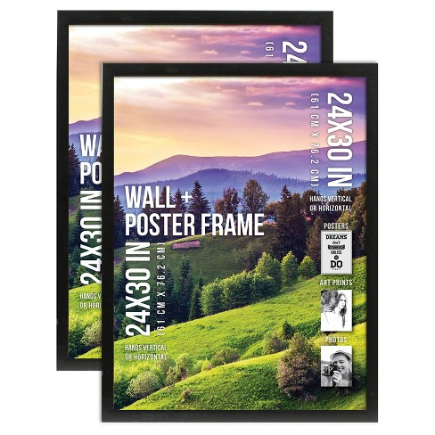 2pk Bp Industries Gallery Poster Frame 1 Profile 24x30 Black