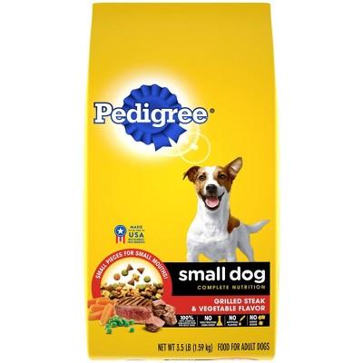 Pedigree Grilled Steak & Vegetable Flavor Small Dog Adult Complete Nutrition Dry Dog Food
