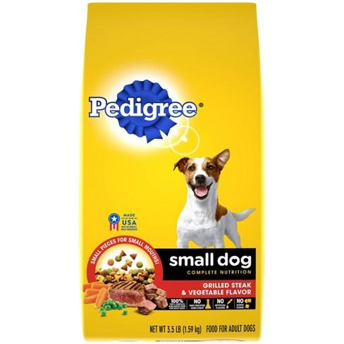 Pedigree Grilled Steak & Vegetable Flavor Small Dog Adult Complete Nutrition Dry Dog Food - image 1 of 4