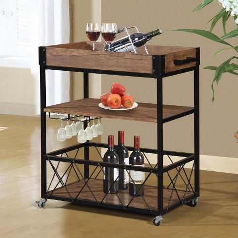 Traditional Rustic Kitchen Cart - Brown - Home Source Industries - image 1 of 1
