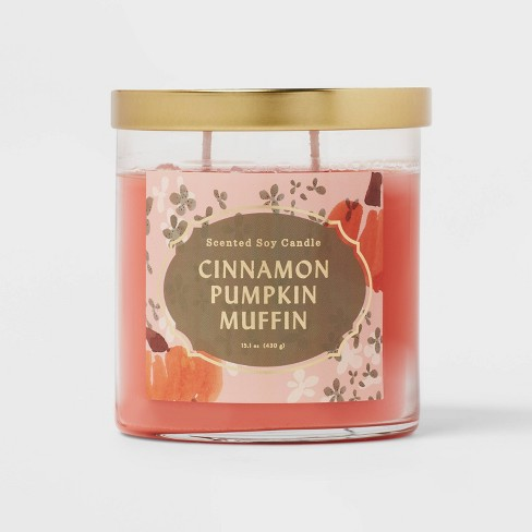 Lidded Glass Jar Cinnamon Pumpkin Muffin Candle - Opalhouse™ - image 1 of 3