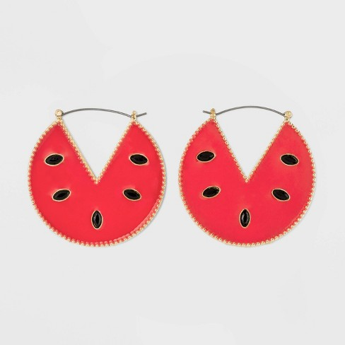 SUGARFIX by BaubleBar Watermelon Drop Earrings - Red - image 1 of 2