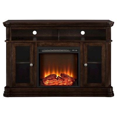 "50"" Centennial Electric Fireplace TV Console Espresso - Room & Joy"