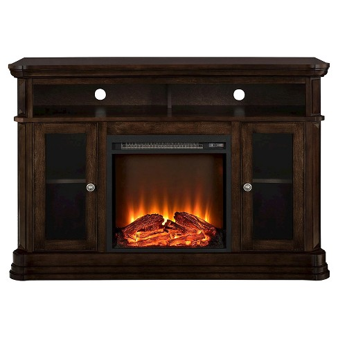"""Centennial Electric Fireplace TV Console for TVs up to 50"""" -  Espresso - Room & Joy - image 1 of 4"""