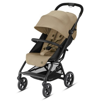 Cybex 521000481 Eezy S+2 Infant and Toddler Stroller 3 in 1 Ready Folding Travel System Stroller with Seat Adapters, Rain Cover, and Cup Holder, Beige