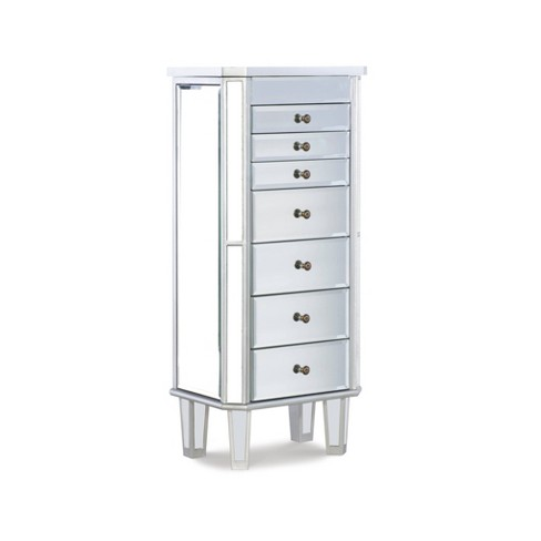 Aislin Jewelry Armoire Mirror/Silver - Powell Company - image 1 of 4