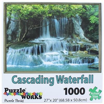PuzzleWorks 1000 Piece Jigsaw Puzzle | Cascading Waterfall