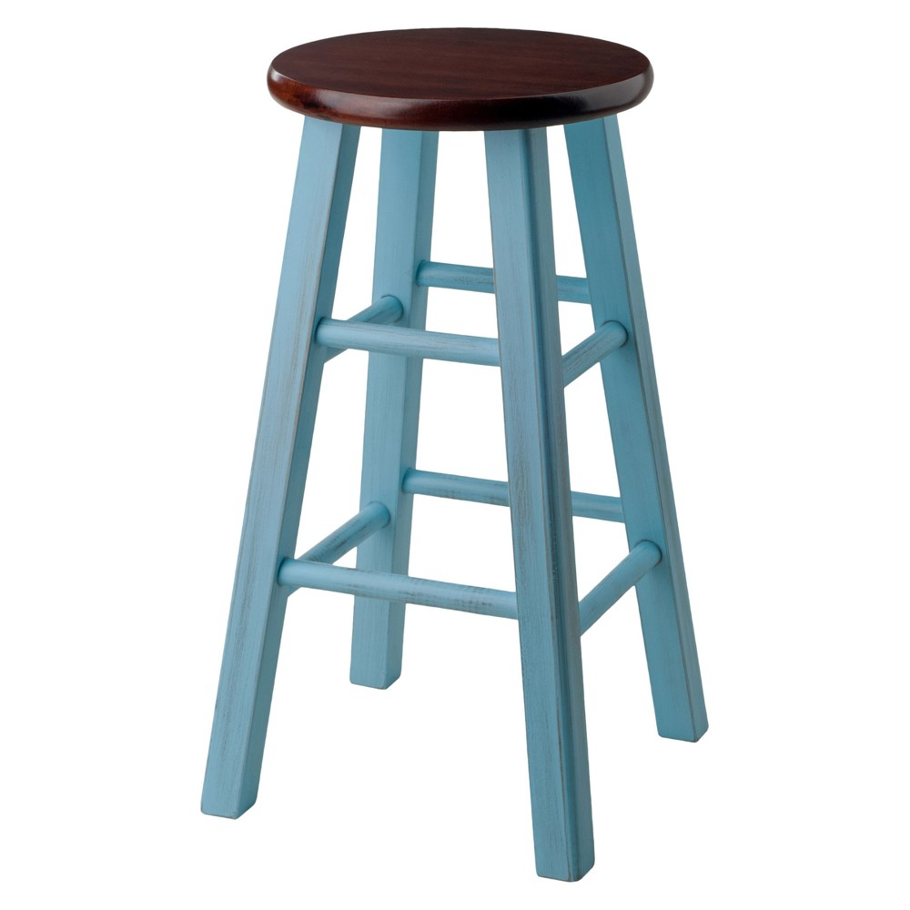 "Image of ""24"""" Ivy Counter Stool - Light Blue - Winsome"""