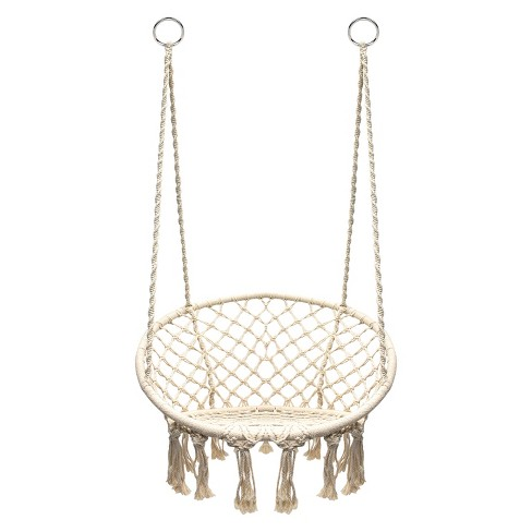 Hanging Rope Chair Off White - Sorbus - image 1 of 12