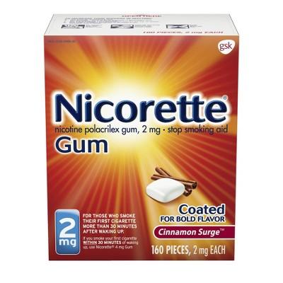 Nicorette 2mg Stop Smoking Aid Nicotine Gum - Cinnamon Surge - 160ct