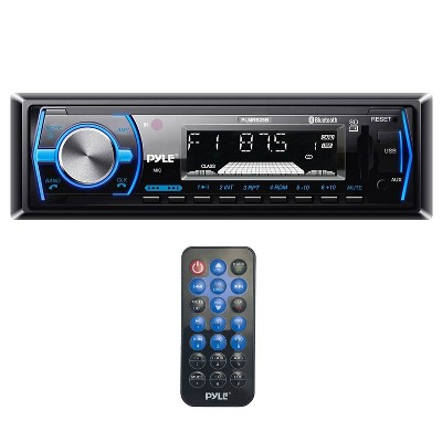 Pyle Single DIN Bluetooth In-Dash Car Audio Stereo Receiver w/ Remote | PLMRB29B