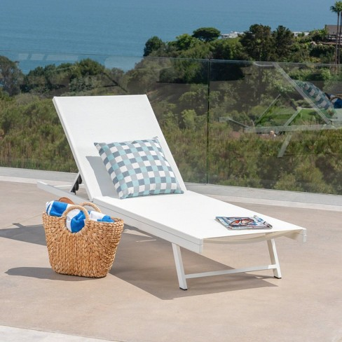 Salton Aluminum Chaise Lounge - Christopher Knight Home - image 1 of 4
