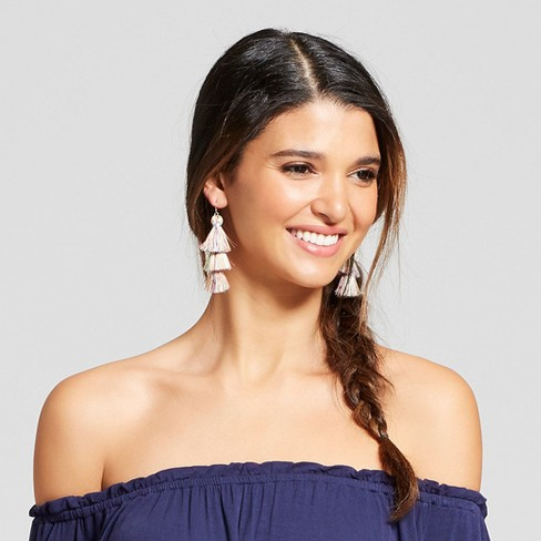 Tiered Tassel Drop Earrings - SUGARFIX by BaubleBar