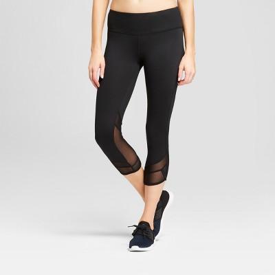 Women's Freedom Mesh Insert Mid-Rise Capri Leggings - C9 Champion® Black M