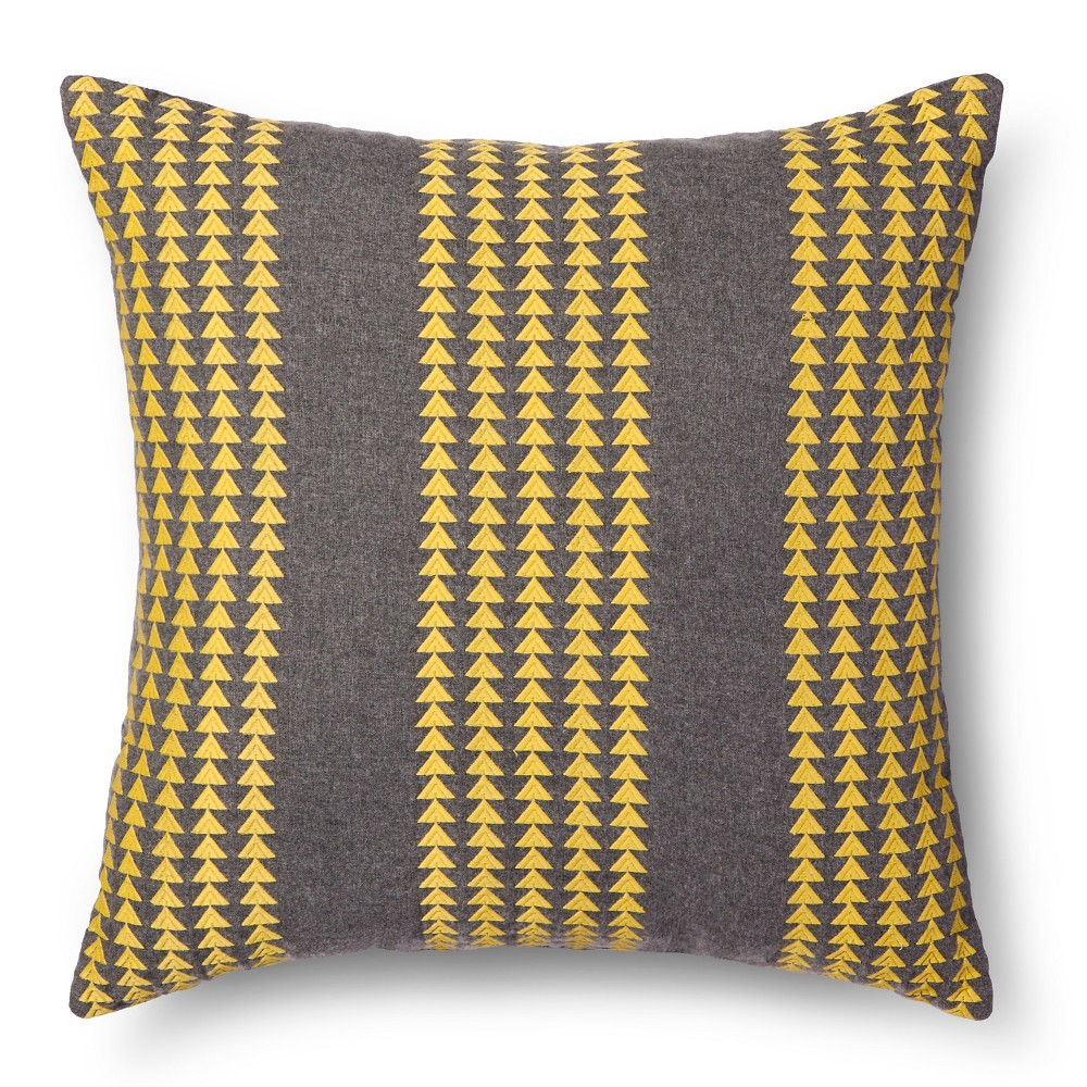 Triangle Stripe Throw Pillow - Room Essentials, Vintage Yellow
