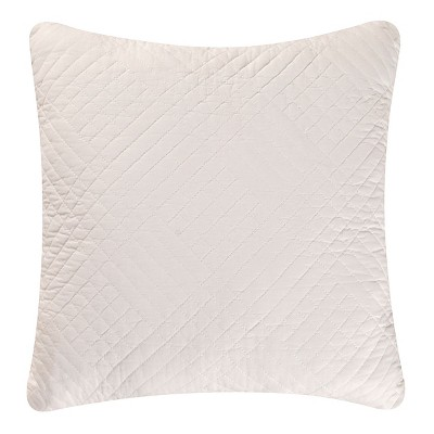 """C&F Home 14"""" x 14"""" Hampton White Quilted Pillow"""