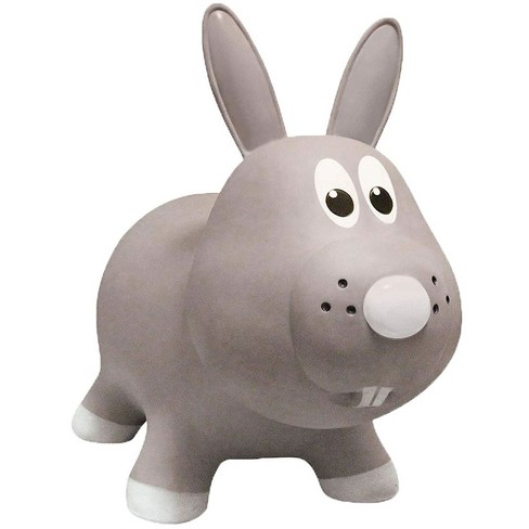 Farm Hoppers Inflatable Bouncing Grey Rabbit - image 1 of 3