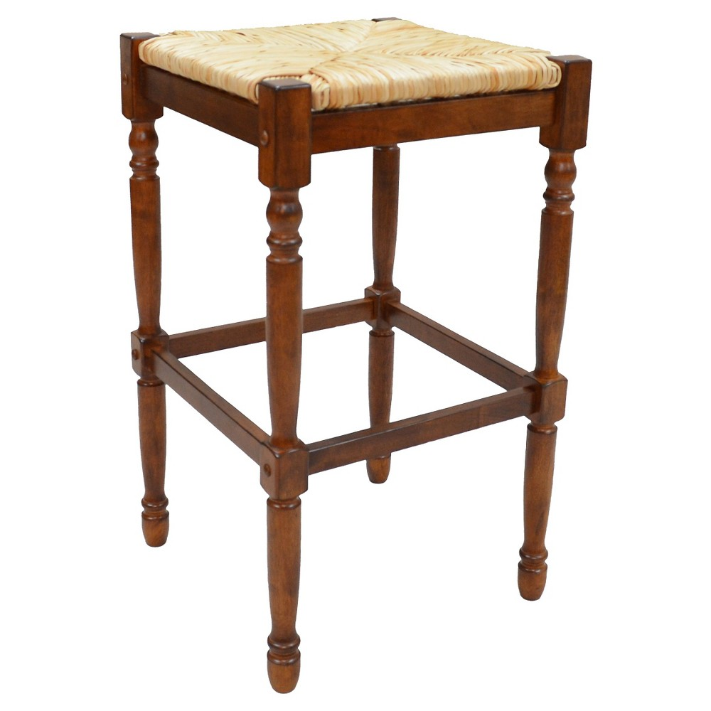 29.25 Turner Barstool Chestnut - Carolina Chair and Table, Brown