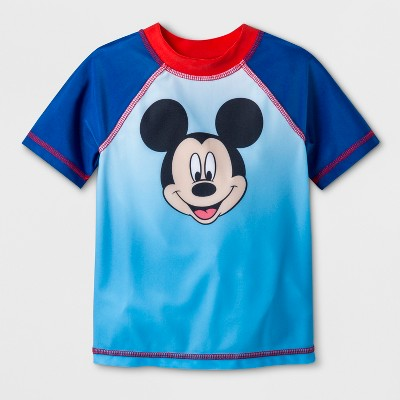 Toddler Boys' Mickey Mouse & Friends Rash Guard - Blue 3T