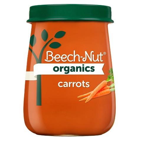 Beech-Nut Organics Carrots Baby Food Jar - 4oz - image 1 of 4