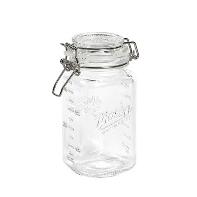 Mason Craft & More 2L Set of 2 Clamp Jars