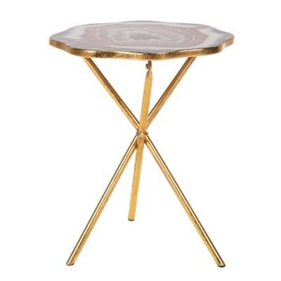 Celeste Faux Agate Side Table - Safavieh
