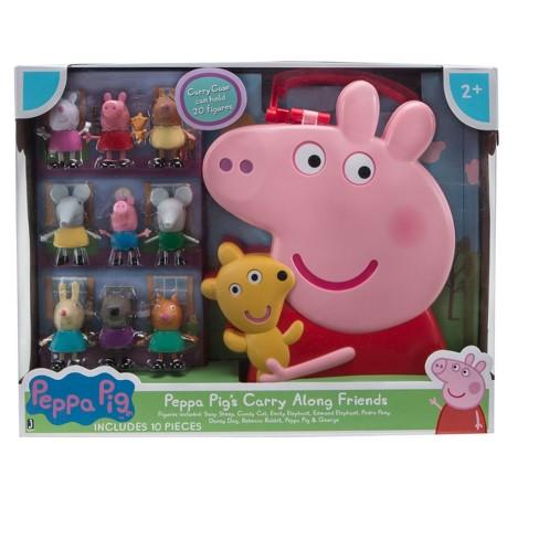 d7af1e0d8 Peppa Pig Carry Along Friends - 10pc : Target