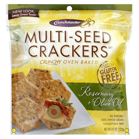 Crunchmaster Multi-Seed Rosemary + Olive Oil Crackers 4.5 oz - image 1 of 1