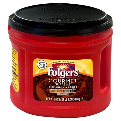 Folgers Gourmet Supreme Dark Roast Ground Coffee - 24.2oz