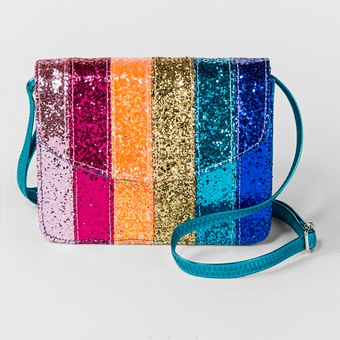 Girls' Glitter Patchwork Crossbody Bag - Cat & Jack™ - image 1 of 2