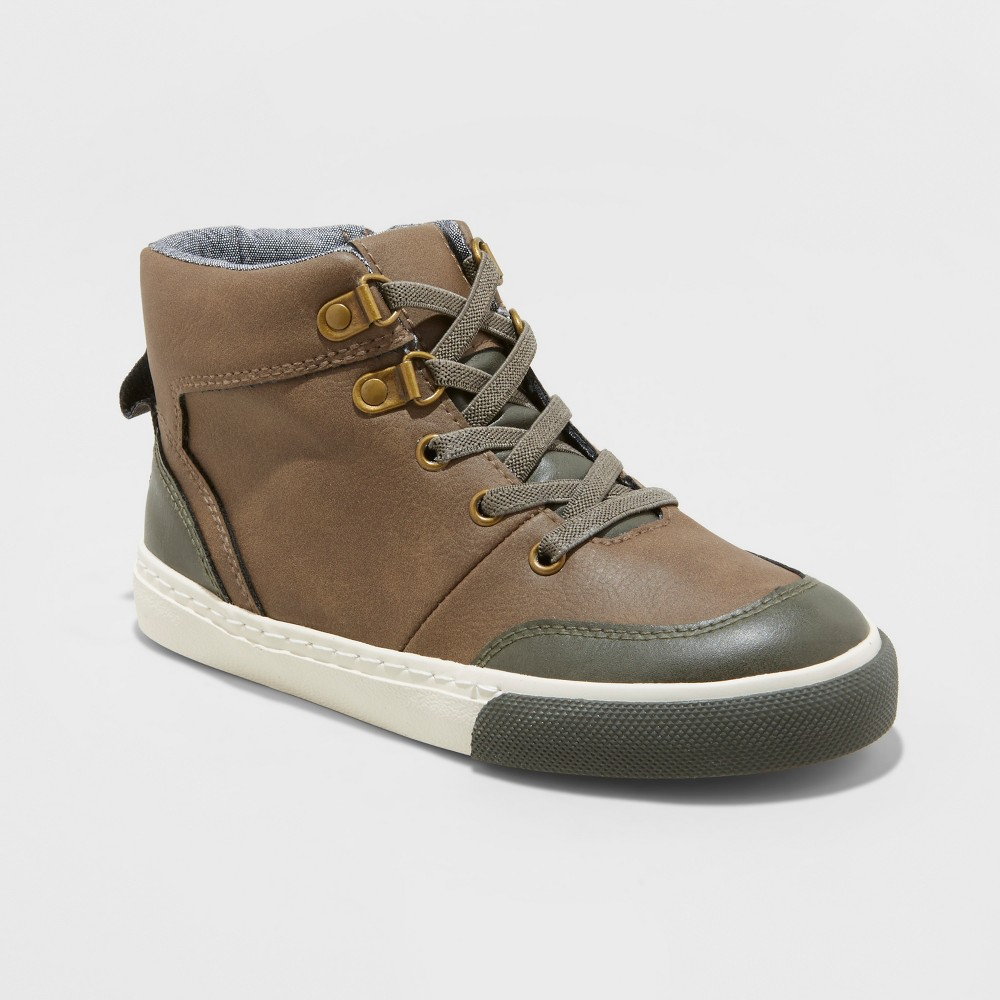 Boys' Henre Mid Top Casual Sneakers - Cat & Jack Brown 13, Boy's, Size: Small