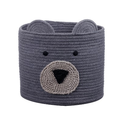 Coiled Rope Storage Bin Large Bear - Cloud Island™