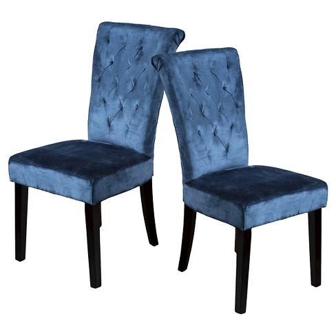 2596616080a75 Charlotte Crush Velvet Dining Chair Teal (Set of 2) - Christopher Knight  Home
