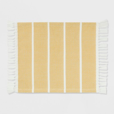 Texture Stripe Placemat Foraging Yellow - Threshold™