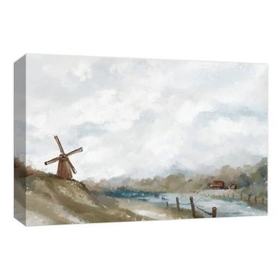 "11"" x 14"" Desolate Windmill Decorative Wall Art - PTM Images"