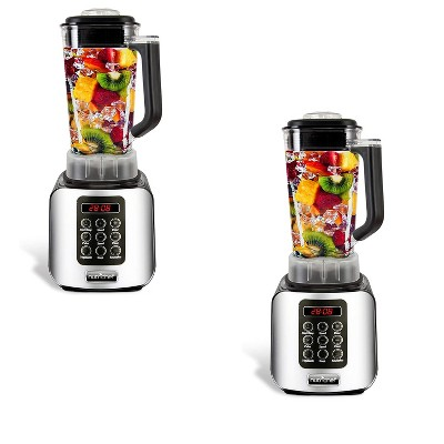 NutriChef Professional Home Kitchen 5 Speed Digital Countertop Blender w/ 1.70 Liter Container, Pulse Blend and Timer for Smoothies and Soup (2 Pack)