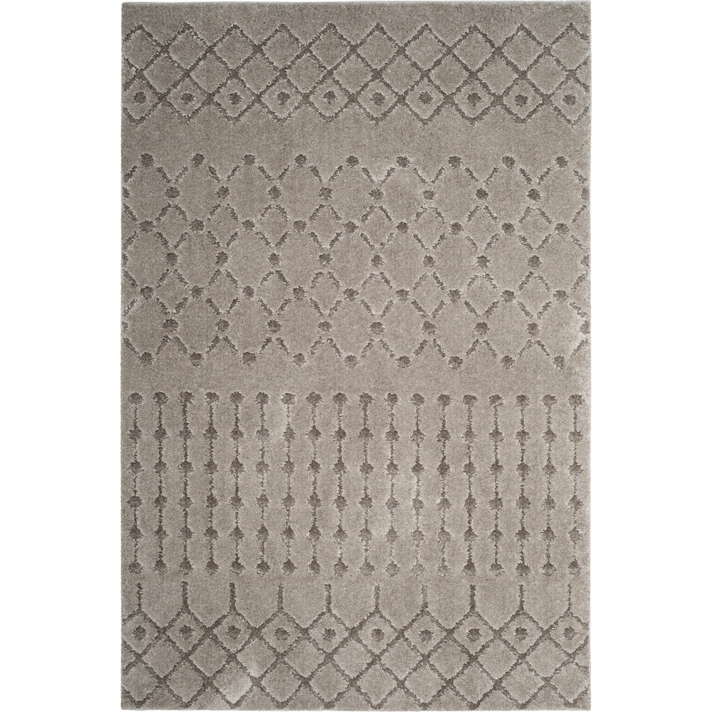 3X5 Geometric Design Loomed Accent Rug Gray - Safavieh Top