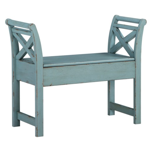 Heron Ridge Accent Bench Blue - Signature Design by Ashley - image 1 of 2