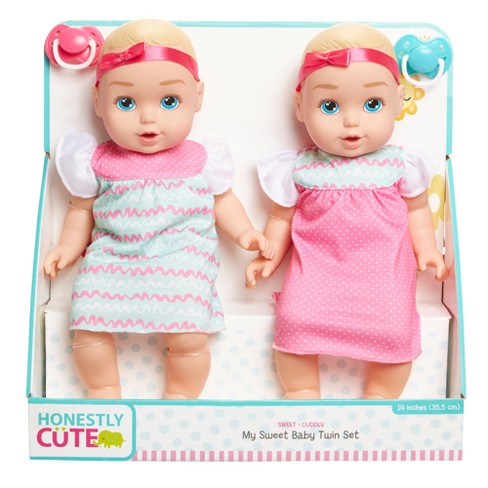 honestly cute my sweet baby twins baby dolls 14 target