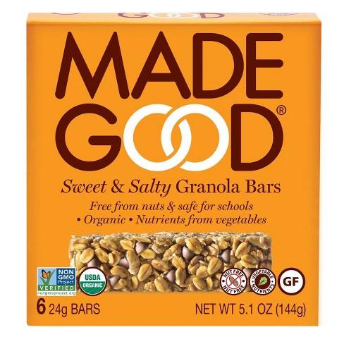 MadeGood Sweet & Salty Granola Bar - 6ct - image 1 of 3