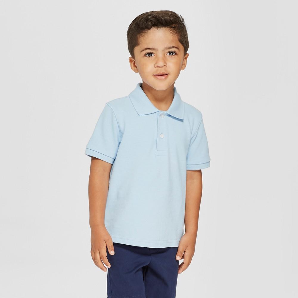 Toddler Boys' Short Sleeve Pique Polo Shirt - Cat & Jack Blue 4T