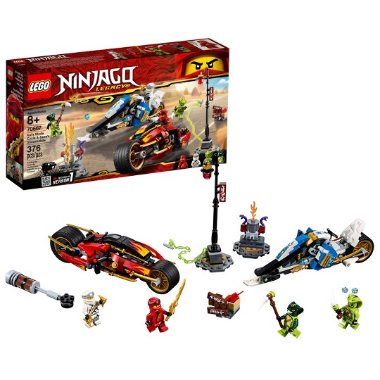 LEGO Ninjago: Masters of Spinjitzu Kai's Blade Cycle & Zane's Snowmobile 70667 image number null
