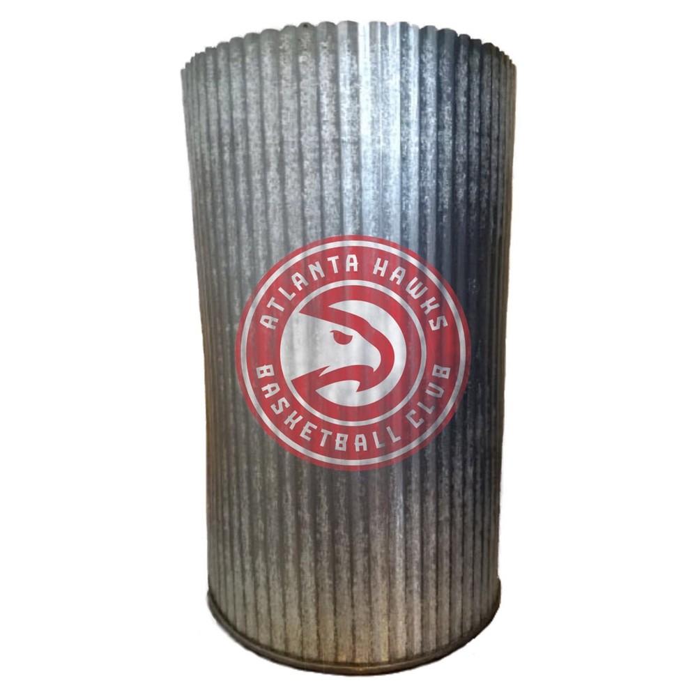 NBA Atlanta Hawks Metal Cylinder Vase