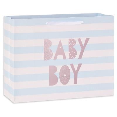Medium Striped Baby Shower Gift Bag - Spritz™