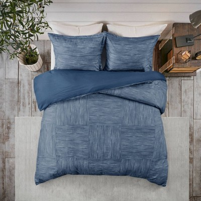 Kelan 3pc Printed Seersucker Duvet Cover Set