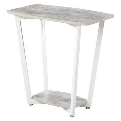 Graystone End Table Gray and White - Breighton Home