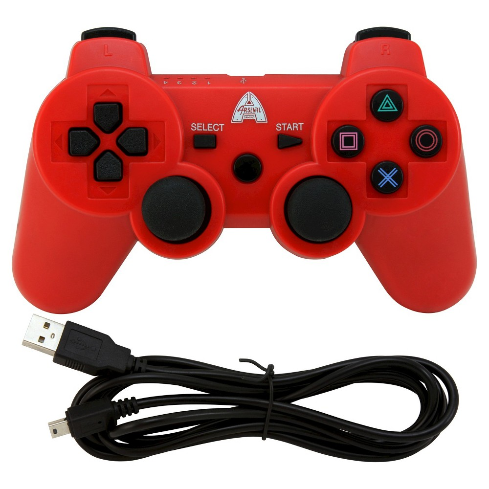 Arsenal Gaming AP3CON4R Bluetooth Controller with Rechargeable - RedPlaytstation 3, Red
