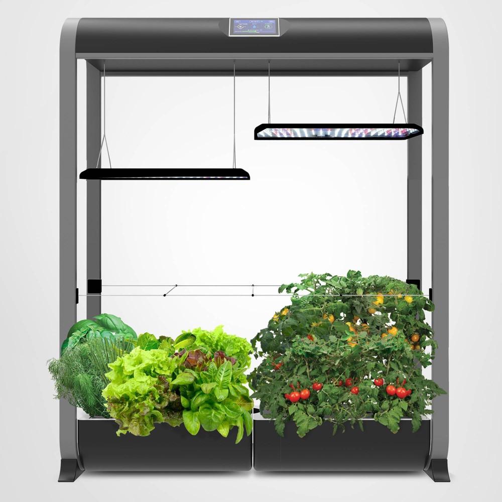Image of AeroGarden Farm XL With Salad Bar Seed Kit Black