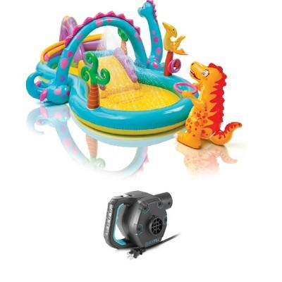"Intex 11' x 7.5' x 44"" Dinoland Play Center Kiddie Swimming Pool w/ air pump"