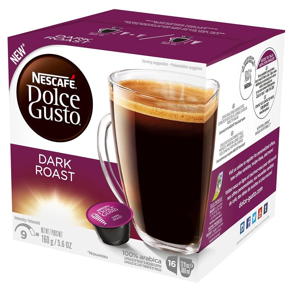 Nescafe Dolce Gusto Dark Roast Coffee - Single Serve Pods - 16ct